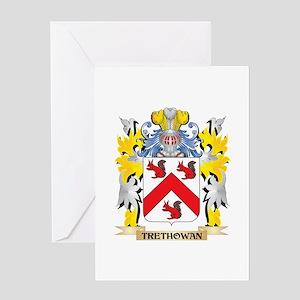Trethowan Family Crest - Coat of Ar Greeting Cards