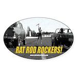 Rat Rod Rockers! Sticker (Oval)
