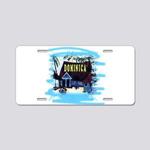 Dominica Aluminum License Plate