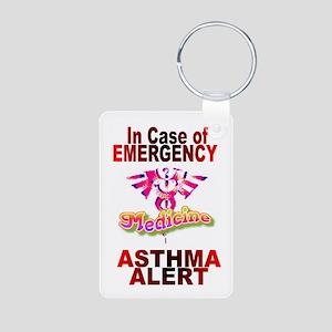 ASTHMA - medical alert Aluminum Photo Keychain