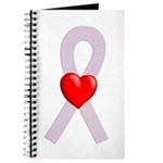 Orchid Ribbon Heart Journal