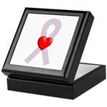 Orchid Ribbon Heart Keepsake Box