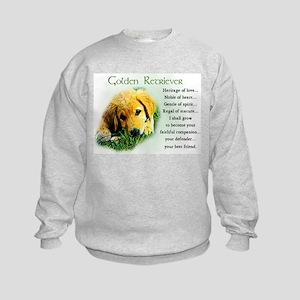 Golden Retriever Gifts Kids Sweatshirt