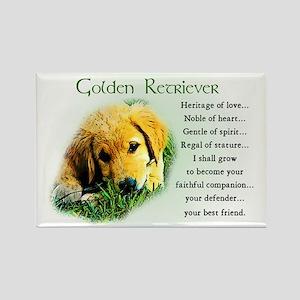 Golden Retriever Gifts Rectangle Magnet (10 pack)