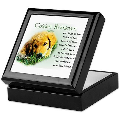 Golden Retriever Gifts Keepsake Box