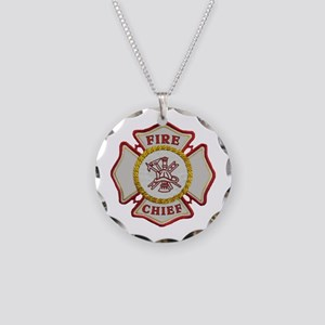 Fire Chief Maltese Necklace Circle Charm