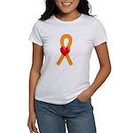 Orange Ribbon Heart Women's T-Shirt