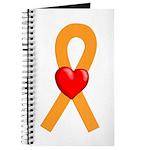 Orange Ribbon Heart Journal