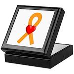 Orange Ribbon Heart Keepsake Box