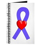 Periwinkle Ribbon Heart Journal