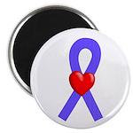 Periwinkle Ribbon Heart Magnet