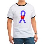 Periwinkle Ribbon Heart Ringer T