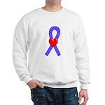 Periwinkle Ribbon Heart Sweatshirt