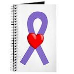Violet Ribbon Heart Journal