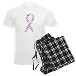 Purple paw ribbon Men's Light Pajamas