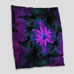 Beautiful Ultraviolet Lilac Or Burlap Throw Pillow