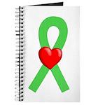 Lime Ribbon Heart Journal