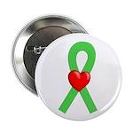 Lime Ribbon Heart Button
