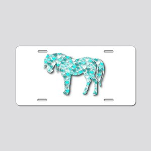 HeartHorse - Aqua Aluminum License Plate