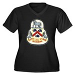USS COCHRANE Women's Plus Size V-Neck Dark T-Shirt