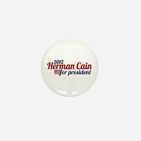 Herman Cain 2012 Mini Button