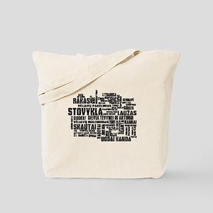 Stovykla Rakas Terms Tote Bag