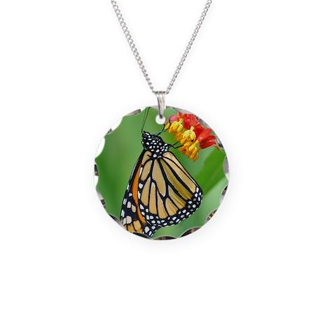 Monarch & Milkweed No3 Necklace Circle Charm
