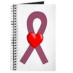 Burgundy Ribbon Journal