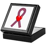 Burgundy Ribbon Keepsake Box