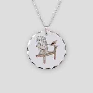 Adirondack Chair Necklace Circle Charm
