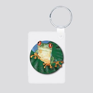 Tree Frog Aluminum Photo Keychain