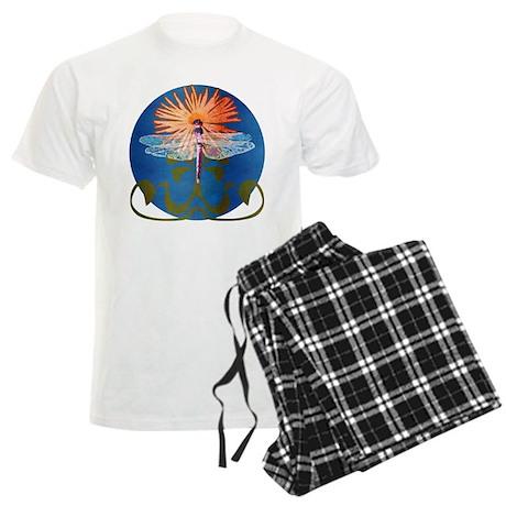 Dragonfly Flower Men's Light Pajamas