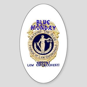 Blue Monday badge Sticker (Oval)