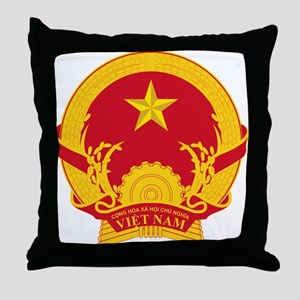 Vietname Coat of Arms Throw Pillow