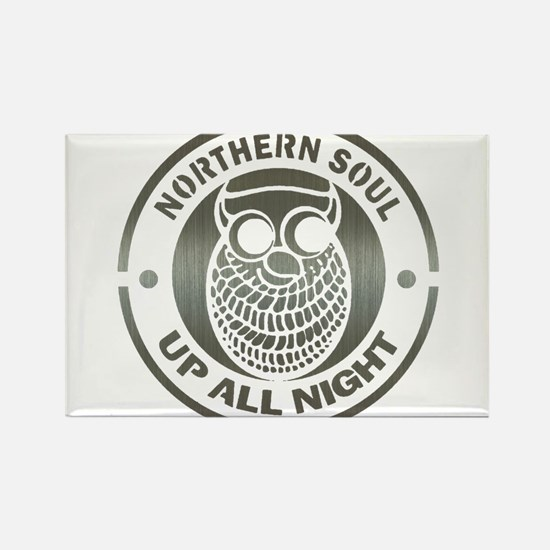 Northern Soul up all night ow Rectangle Magnet