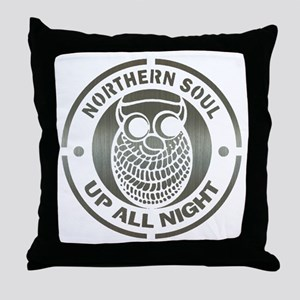 Northern Soul up all night ow Throw Pillow