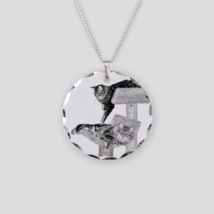 Maine Coon Cats Necklace Circle Charm