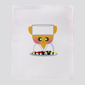 """Sushi Chef 2"" Throw Blanket"