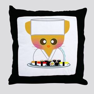"""Sushi Chef 2"" Throw Pillow"