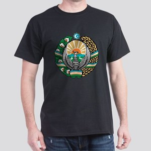 Uzbekistan Coat of Arms Dark T-Shirt