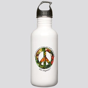 Stainless Water Bottle 1.0L PeaceOrganicVegetables