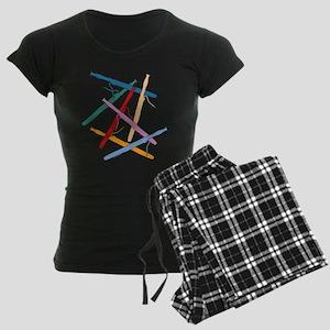 Colorful Bassoons Women's Dark Pajamas