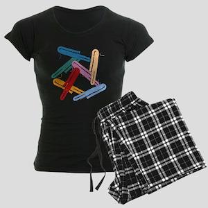 Colorful Contrabassoons - Women's Dark Pajamas