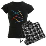 Colorful Clarinets Women's Dark Pajamas