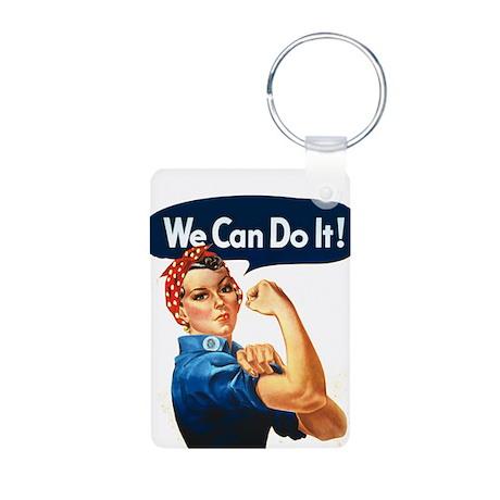 Rosie the Riveter Aluminum Photo Keychain