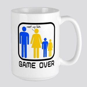 Game Over Marriage Married Ba Large Mug