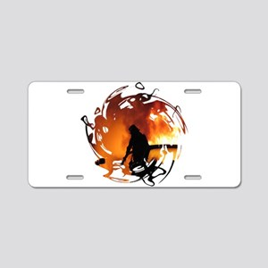 Firefighter Circle of Flames Aluminum License Plat