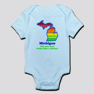 Say Yes To Michigan and The M Infant Bodysuit
