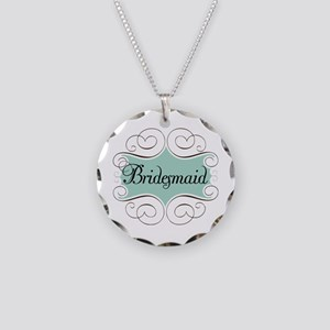 Beautiful Bridesmaid Necklace Circle Charm