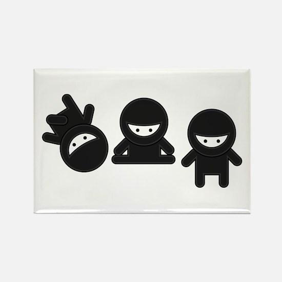 Like a Ninja Rectangle Magnet (10 pack)
